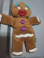 "DREAMWORKS Shrek Plush Gingy Hand Puppet 14"" Gingerbread Man Stuffed"