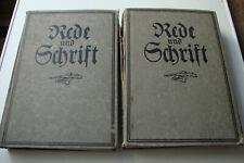 Rede und Schrift ; Band 1 und 2  Handbuch und Nachschlagewerk