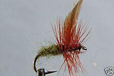 10 x Mouche Sèche Fumier  H12/14/16 fliegen truite cowdung fly fliegen mosca