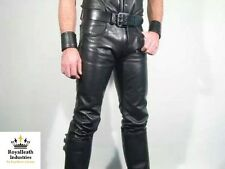 NEW 100% REAL LEATHER PANTS leder hosen pantalon fetish gay jock jeans bondage