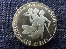 Germany 1972 Olympic Games in Munchen Athletes 10 Mark .625 Silver Coin 1972 F