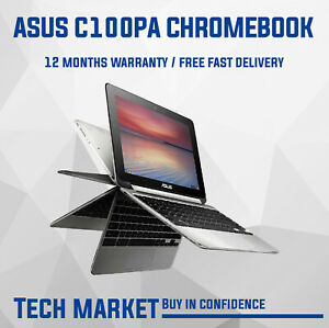 """ASUS FLIP C100PA 10.1"""" CONVERTIBLE NON-TOUCHSCREEN CHROMEBOOK WITH PLAYSTORE"""