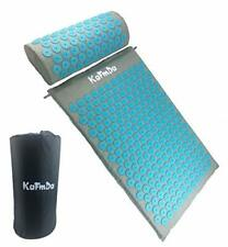 KaFmDa Yoga Acupressure Mat and Pillow Set with Carry Bag Muscle Relaxation