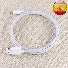 Cable Cargador de USB a Usb Tipo C Datos Sincronización Carga Móvil Blanco