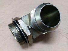 """2"""" (2 inch) Male JIC x 2"""" Male ORB - 90 Degree Hydraulic Fitting"""