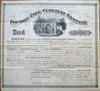 Loudon Park Cemetery-Baltimore, MD THREE 1876/1893/1896 Large Deeds/Certificates