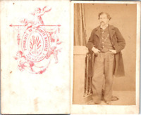 Joaquin Masaguer, Gerona, monsieur en pose Vintage CDV albumen carte de visite