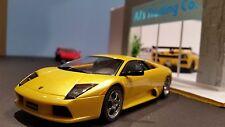 AutoArt SLOT Car 1:32 Lamborghini Murcielago Yellow Lighting Lamps NEW Boxed