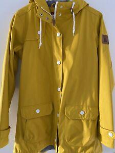 DERBE Regenjacke Kapuze  Damen Gelb Gr. 38 Outdoor Wasserdicht - OVP: 139,99€