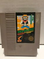 Wild Gunman Gun Man Nintendo 1985 NES 5 Screw Black Box Label Tested W/ sleeve
