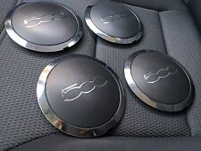 x4 genuine Fiat 500 Alloy Wheel Center Caps