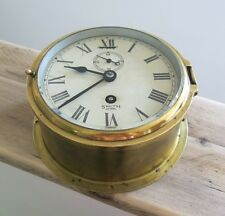 Antique SMITHS ASTRAL SHIPS 8 DAY CLOCK Nautical Maritime Marine Boat - BRASS