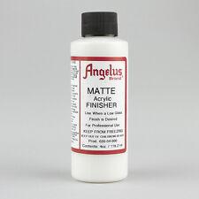 ANGELUS acrilica Pelle Vernice Opaca FINISHER 4oz BOTTIGLIA