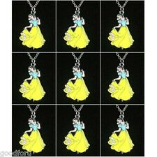 Lot Wholesale 9pcs Disney Snow white Necklace Birthday Party Girls Favor Gift BN