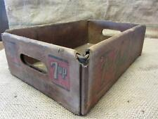 Vintage Cardboard 7UP Crate > Antique Old Seven Up Sign Signs Soda Cola 8592