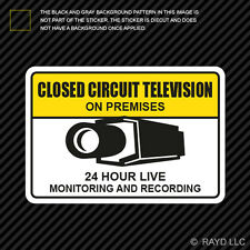 Warning CCTV Closed Circuit Television Sticker Decal security surveillance