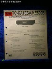Sony Service Manual TC KA1ESA / KE500S Cassette Deck (#1798)