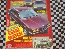 AUTO-HEBDO 1984 PARIS DAKAR / RALLYE MONTE CARLO / BMW 320 i / MERCEDES 190 E