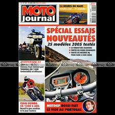 MOTO JOURNAL N°1661 YAMAHA MT01 FJR 1300 HONDA ST PAN EUROPEAN 24 H DU MANS 2005