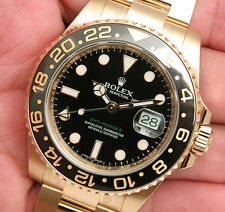 Rolex GMT MASTER II 116718 Mens Yellow Gold Black Dial 40MM Black Ceramic Bezel