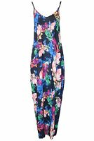Womens Ladies Floral Print Camisole Strappy Sleeveless Lagenlook Long Maxi Dress