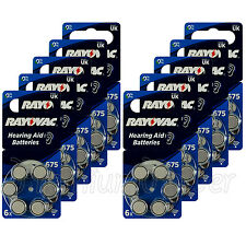 60 x Rayovac Special 675 Size Hearing aid batteries Zinc air 10 Packs EXP:2020