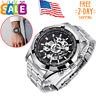 Automatic Mechanical Men Wrist Watch Luxury Skeleton Swiss Self Wind Wristwatch