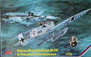 MPM 1/72 Hansa Brandenburg W.29 & Friedrich Christiansen Model Kit