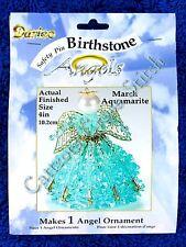 Birthstone Angel Ornament Bead Kit - March Aquamarite. Included