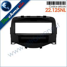 Mascherina supporto autoradio ISO Citroen C1 ([2] dal 2014) col. nero lucido