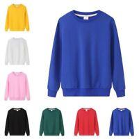 Spring Women Casual Pullover Sweatshirt Long Sleeve Crewneck Loose Hoodie Tops B
