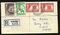 BRITISH GOLD COAST to GREAT BRITAIN registered cover 1952 - VF