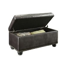 Convenience Concepts Designs4Comfort 7th Ave Storage Ottoman, Espresso - 163050E