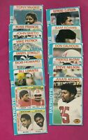 14 X 1978 TOPPS NEW ENGLAND PATRIOTS CARD  (INV# A4307)