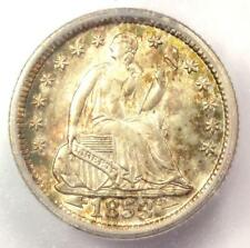 1853 Arrows Seated Liberty Half Dime H10C - Certified ICG MS65 - $1,090 Value!