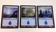 3 MTG Magic the Gathering ISLAND Cards (2013)