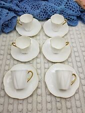 Shelley coffee cups dainty white x 6