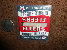 FLEERS DUBBLE BUBBLE METAL DOUBLE SIGN FOR LIONEL PW 156 PASSENGER PLATFORM ++
