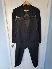 VTG Cashmere 3 Piece Gieves & Hawkes Saville Row Suit Sz 40 R 34W 30.5L