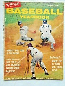 VINTAGE 1959 True Baseball Yearbook Magazine, Willie Mays, San Francisco Giants