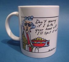 Maxine Coffee Mug Don't Worry If I Bite Your Head Off I'll Spit It Out Hallmark