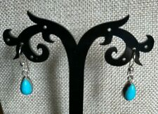 Jay King RedSkin Turquoise Drop Sterling Silver Earrings  NWT Ret $75
