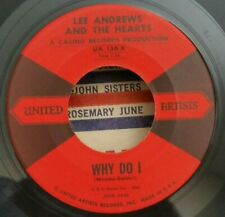 Lee Andrews And The Hearts   UA 136x   WHY DO I   (GREAT DOO WOP 45)  MAKE OFFER