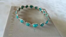 SILPADA .925 Sterling Silver Compressed Turquoise POOLS Bracelet B3218 NIB