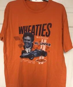 Reebok Wheaties Al Unser 4 Time Indy 500 Champ T-shirt, L, Indianapolis Speedway