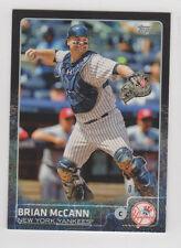 Brian McCann #17 2015 Topps MINI black border card 06/10 New York Yankees Astros