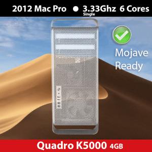 2012 Mac Pro   3.33 GHz 6-Cores   32GB  RAM   1TB   Quadro K5000 4GB