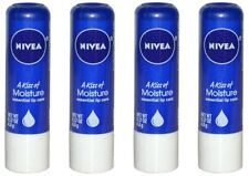 4 Pack Nivea a Kiss of Moisture Essential Lip Care, 0.17-Ounce Sticks