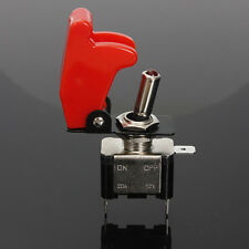 MISSILE (ROCKET) SWITCH - Standard Off / On - RED L.E.D  with Flip Cover 12V/20A