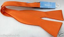 COUNTESS MARA Bow Tie Sateen  Orange   NWT $45